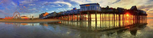Photograph - Old Orchard Beach Pier At Sunrise - Maine by Joann Vitali