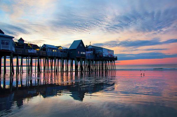 Orchard Beach Photograph - Old Orchard Beach Sunrise - Maine by Joann Vitali