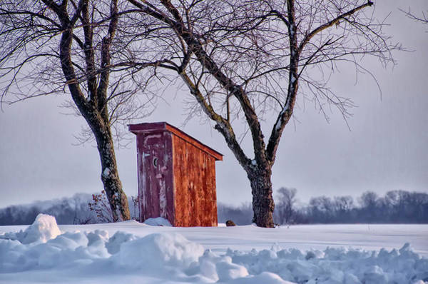 Wall Art - Photograph - Old Outhouse In The Snow by Bill Cannon