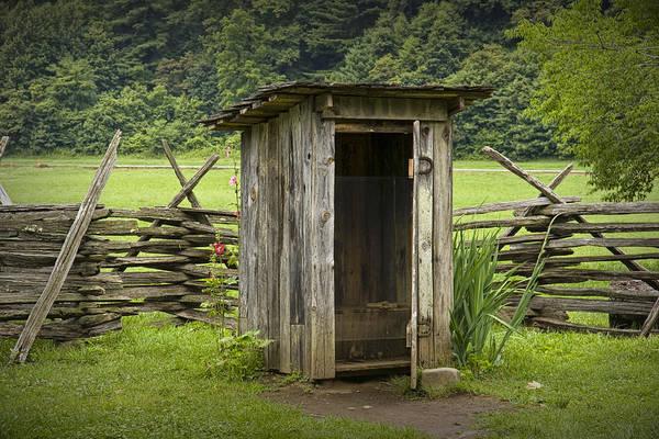 Old Outhouse On A Farm In The Smokey Mountains Art Print