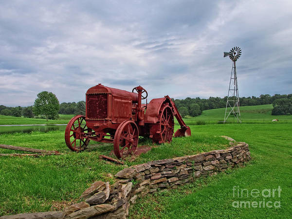 Photograph - Old Painted Tractor by Mark Miller