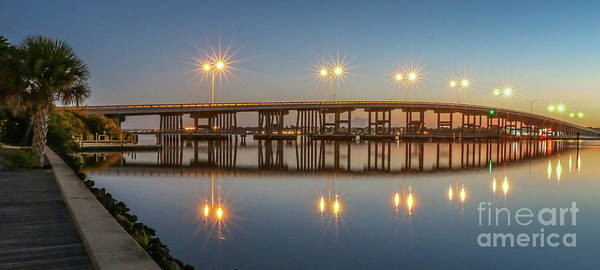 Photograph - Old Palm City Bridge At Dawn by Tom Claud