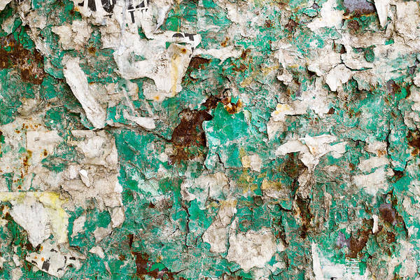 Photograph - Old Paper And Rust Covered Advertising Board by John Williams