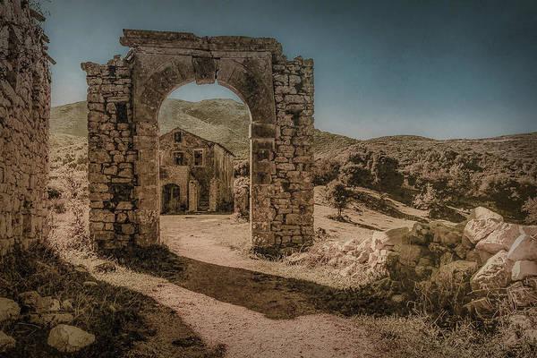 Photograph - Old Perithia, Corfu, Greece - Gate by Mark Forte