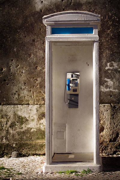 Pay Photograph - Old Phonebooth by Carlos Caetano