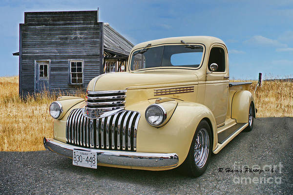 Wall Art - Photograph - Old Pick Up With The Old Calgary Outbuilding by Randy Harris