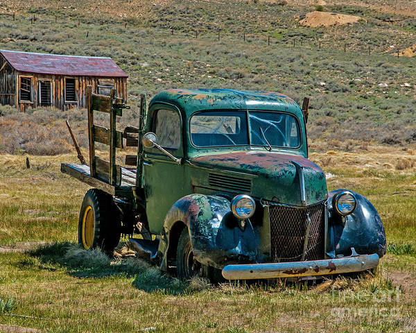 Bodie Ghost Town Wall Art - Photograph - Old Pickup by Stephen Whalen