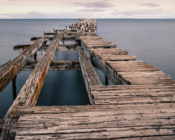 Old Pier In Punta Arenas Art Print