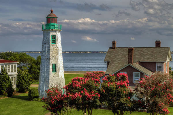 Photograph - Old Point Light And Keeper's House by Jerry Gammon