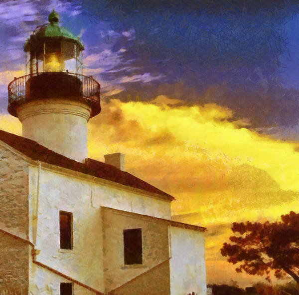 Wall Art - Painting - Old Point Loma Lighthouse by Russ Harris