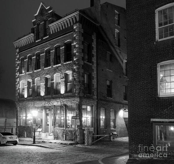 Photograph - Old Port, Portland, Maine  #69480-69482-bw by John Bald