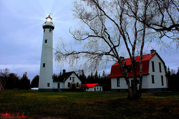 Michigan Wall Art - Photograph - Old Presque Isle Lighthouse by Michael Rucker