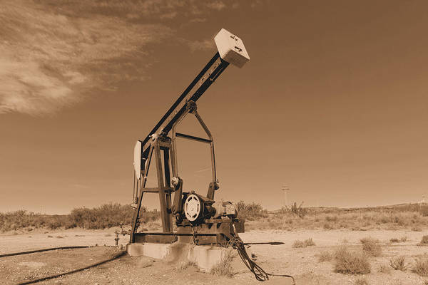 Wall Art - Photograph - Old Pumpjack  Artesia New Mexico by Jeff Swan