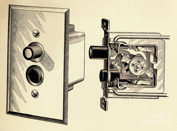 Photograph - Old Push Button Light Switch by Paul W Faust - Impressions of Light