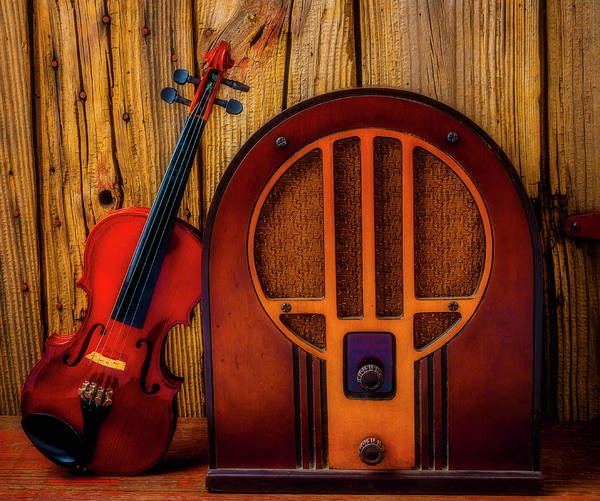 Wall Art - Photograph - Old Radio And Violin by Garry Gay