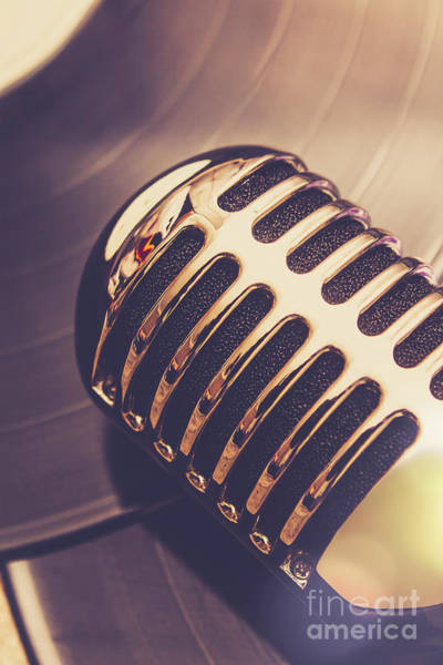 Microphone Photograph - Old Radio Nostalgia by Jorgo Photography - Wall Art Gallery