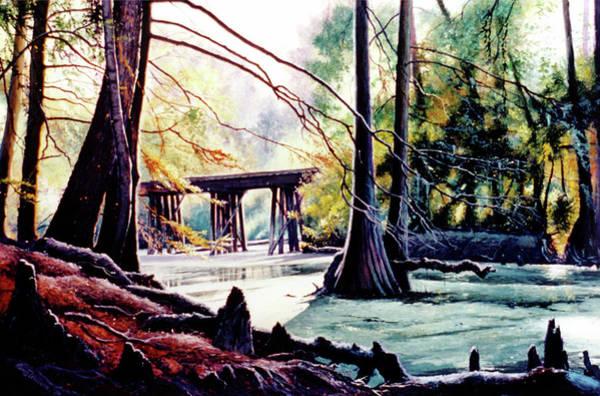Painting - Old Railroad Bridge by Randy Welborn