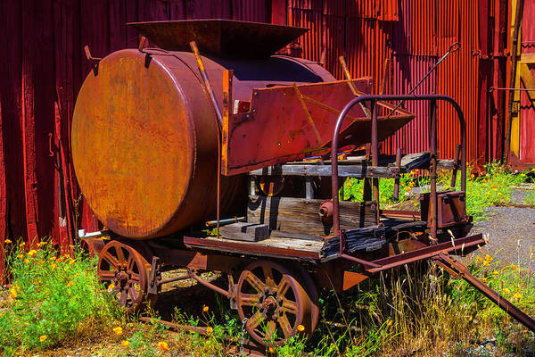 Roundhouse Photograph - Old Railroad Equipment by Garry Gay