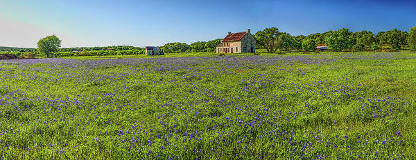 Photograph - Old Ranch On Us 281 Marble Falls Hdr Panorama 2017 by Greg Reed
