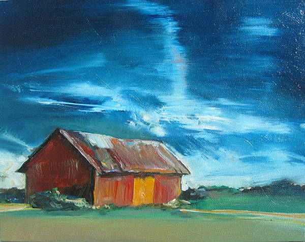 11x14 Painting - Old Red Barn by Drew Davis