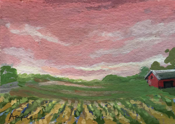 Wall Art - Painting - Old Red Barn by Linda Apple