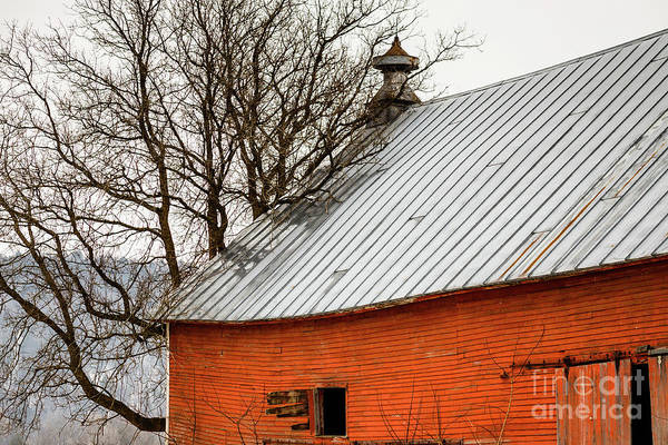 Tin Roof Wall Art - Photograph - Old Red Barn Quechee Vermont by Edward Fielding