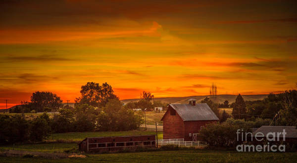 Sensational Photograph - Old Red Barn by Robert Bales