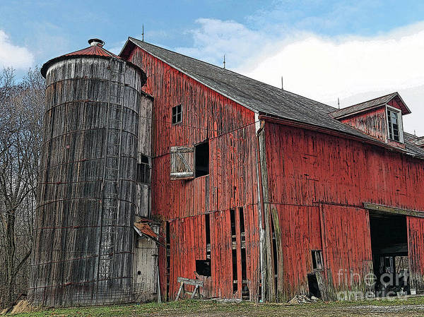 Vernon County Photograph - Old Red Barn by Steve Gass