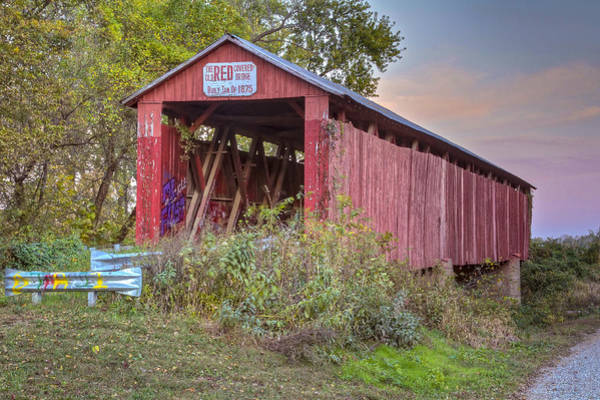 Photograph - Old Red Covered Bridge by Jack R Perry