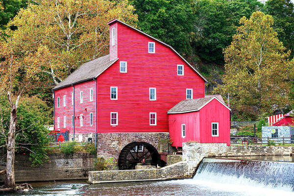 Photograph - Old Red Mill In New Jersey by John Rizzuto