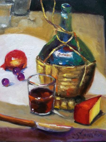 Vino Painting - Old Red by Susan Jenkins