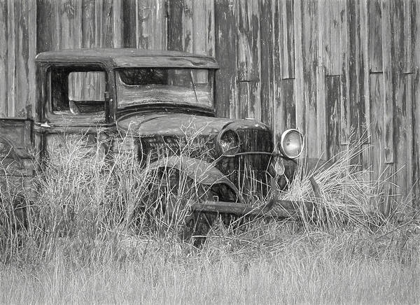 Wrecking Yard Photograph - Old Retired Farm Truck by Wes and Dotty Weber