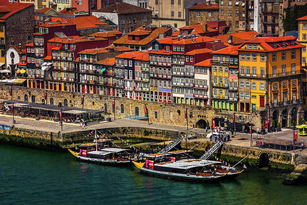 Red Roof Photograph - Old Ribeira Porto  by Carol Japp