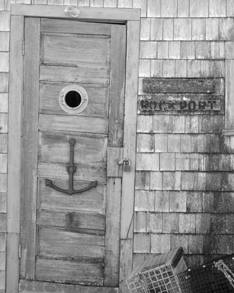 Photograph - Old Rickety Shack In Rockport Ma Black And White by Toby McGuire