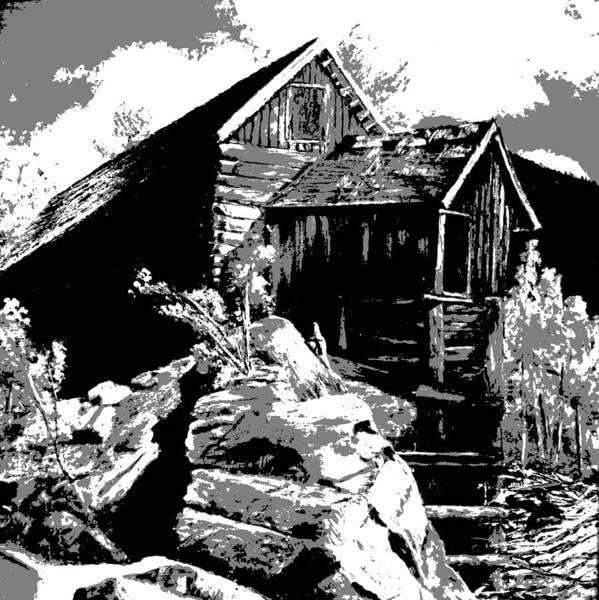 Old Rocky Mill Art Print
