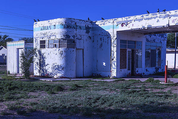 Timeworn Photograph - Old Run Down Gas Station by Garry Gay