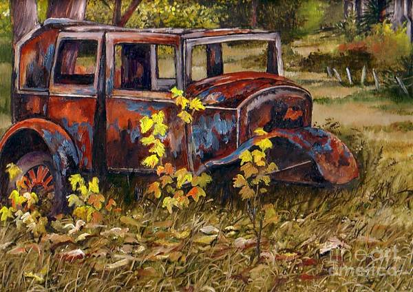 Painting - Old Rust Bucket by Val Stokes