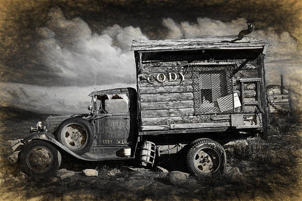 Clunker Wall Art - Photograph - Old Rusted Truck From Cody Wyoming by Randall Nyhof