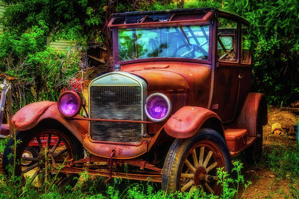 Car Wreck Wall Art - Photograph - Old Rusting Ford by Garry Gay
