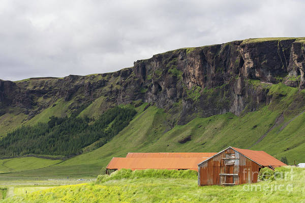 Photograph - Old Rusty Barn Iceland by Edward Fielding