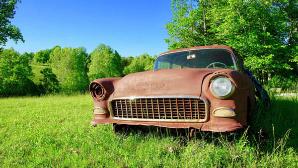 Photograph - Old Rusty Car by The American Shutterbug Society