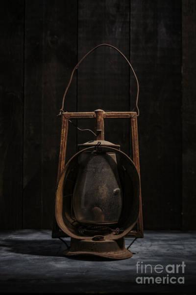 Wall Art - Photograph - Old Rusty Railroad Oil Lantern by Edward Fielding