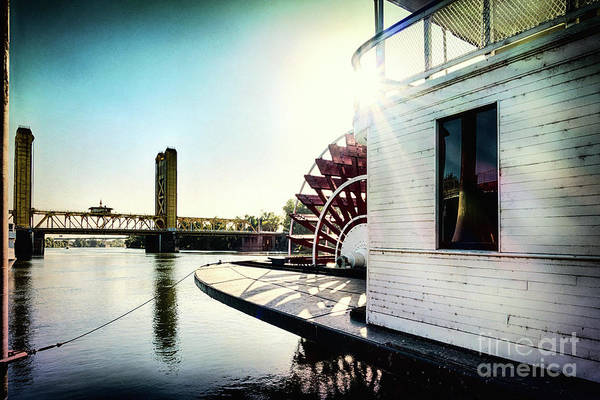 King Harbor Photograph - Old Sacramento With The Drawbridge by George Oze