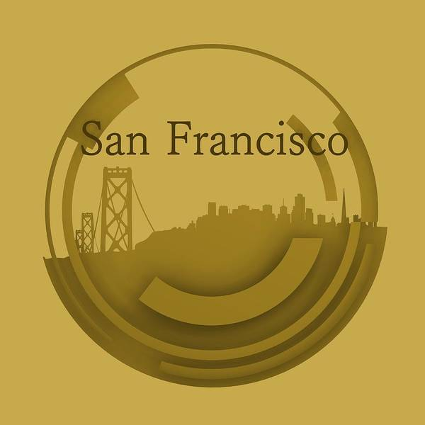 Digital Art - Old San Francisco Skyline by Alberto RuiZ
