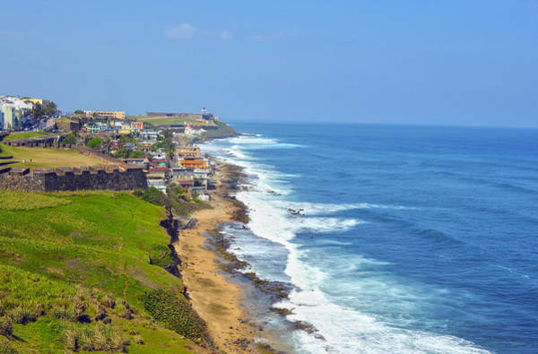 Wall Art - Photograph - Old San Juan Coastline 3 by Stephen Anderson
