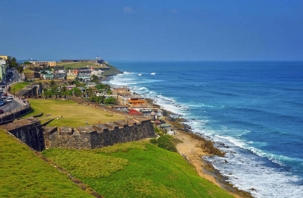Wall Art - Photograph - Old San Juan Coastline by Stephen Anderson