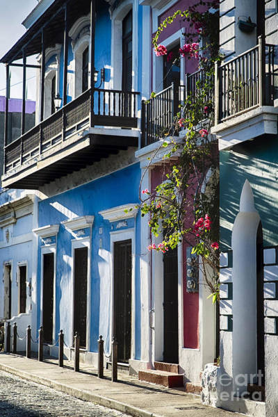 Wall Art - Photograph - Old San Juan Doors And Balconies by George Oze