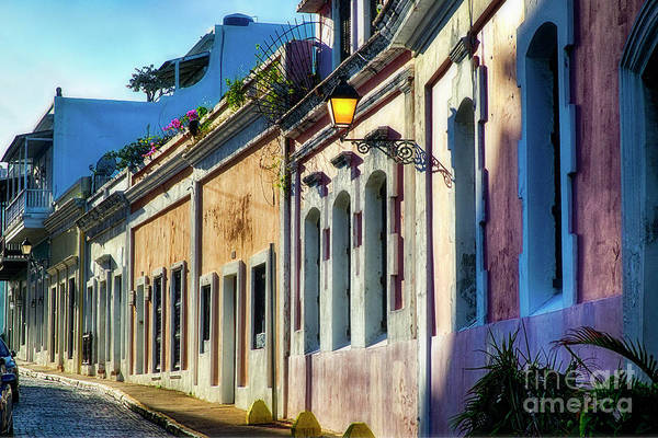 Wall Art - Photograph - Old San Juan Street In Afternoon Light by George Oze