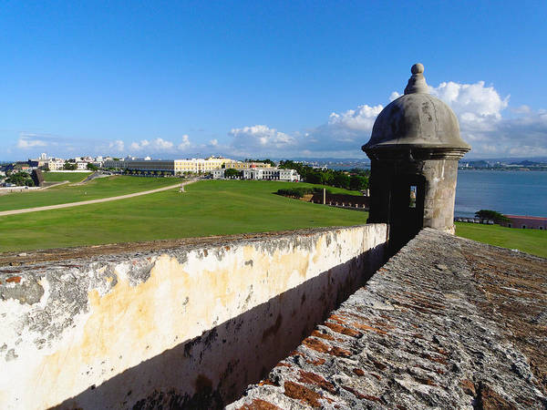 Sentry Box Photograph - Old San Juan View From El Morro Fort by George Oze