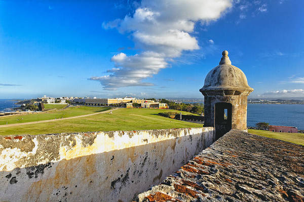 Sentry Box Photograph - Old San Juan Vista by George Oze